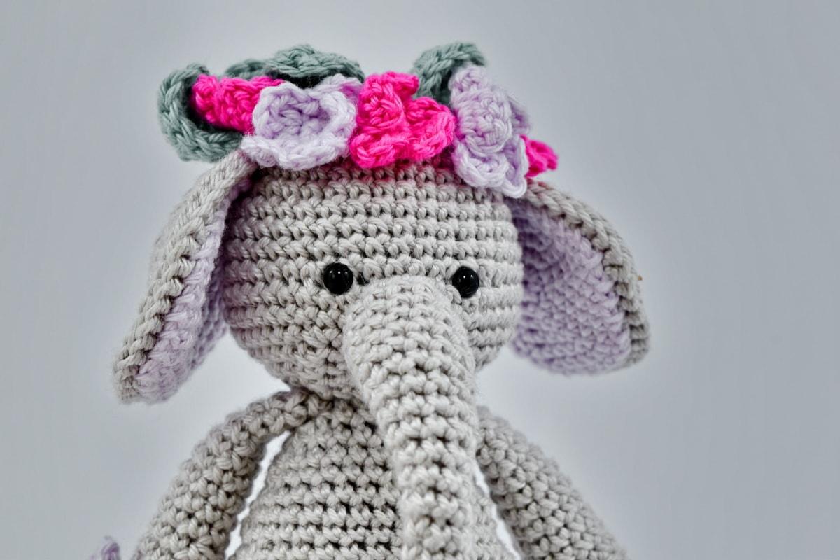 elephant, handmade, knitting, miniature, toy, wool, bear, winter, fashion, art