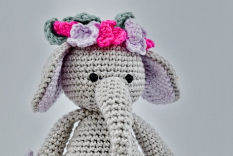 elephant, handmade, knitting, miniature, toy, wool, bear, winter, fashion, art