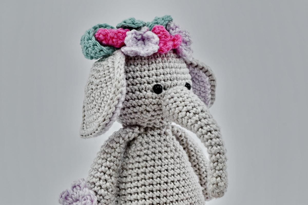 bábika, slon, ručná práca, pletenie, hračka, vlna, umenie, móda, milý, interiérový dizajn