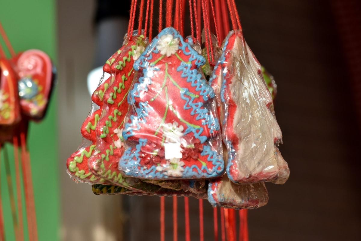 cukrík, Oslava, Vianoce, cukrárske výrobky, dekorácie, chutné, Dovolenka, krytina, závesné, tradičné
