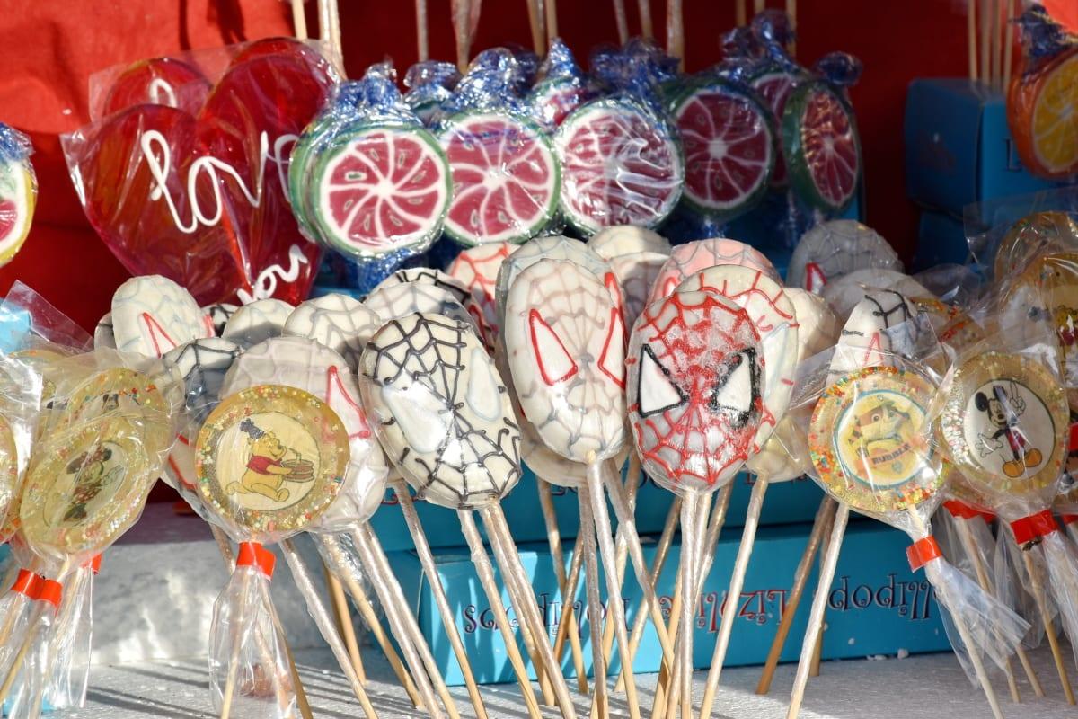 candy, delicious, sticks, sugar, color, culture, decoration, food, fun, handmade