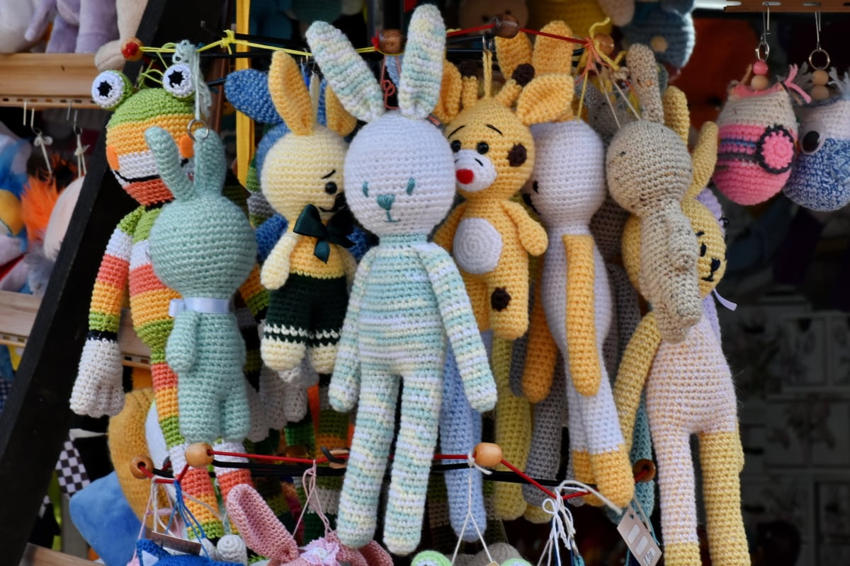 colorful, handmade, homemade, knitwear, toys, toyshop, doll, craft, market, traditional