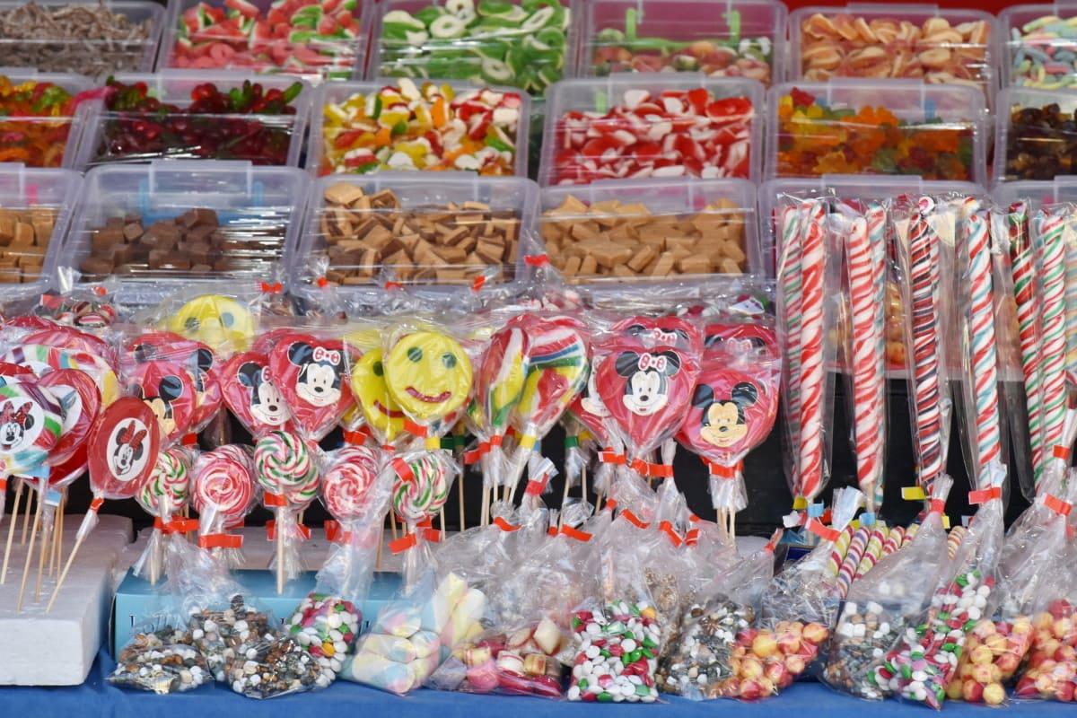 бонбони, вкусни, стоки, Магазин, кутия, светъл, калория, празник, шоколад, цвят