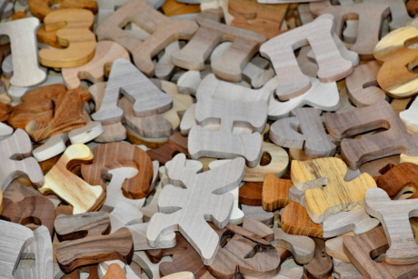 toys, alphabet, carpentry, game, handmade, letter, number, symbol, wooden, wood