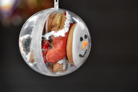 candy, christmas, cookies, decoration, hanging, holiday, food, meal, plate, delicious