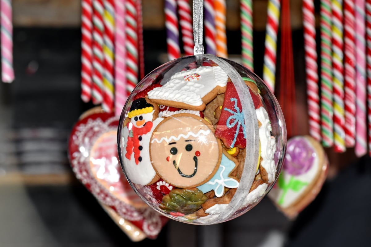 celebration, christmas, cookies, decorative, gingerbread, hanging, candy, winter, indoors, food