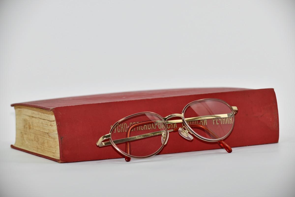 kniha, klasický, vedomosti, Literatúra, román, čítanie, ruština, kontajner, retro, Dioptrické okuliare