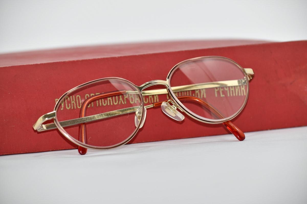 abeceda, kniha, Dioptrické okuliare, pevné dosky, jazyk, ruština, text, okuliare, objektív, kožené