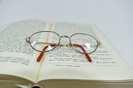 book, eyeglasses, language, reading, Serbia, paper, literature, knowledge, education, text