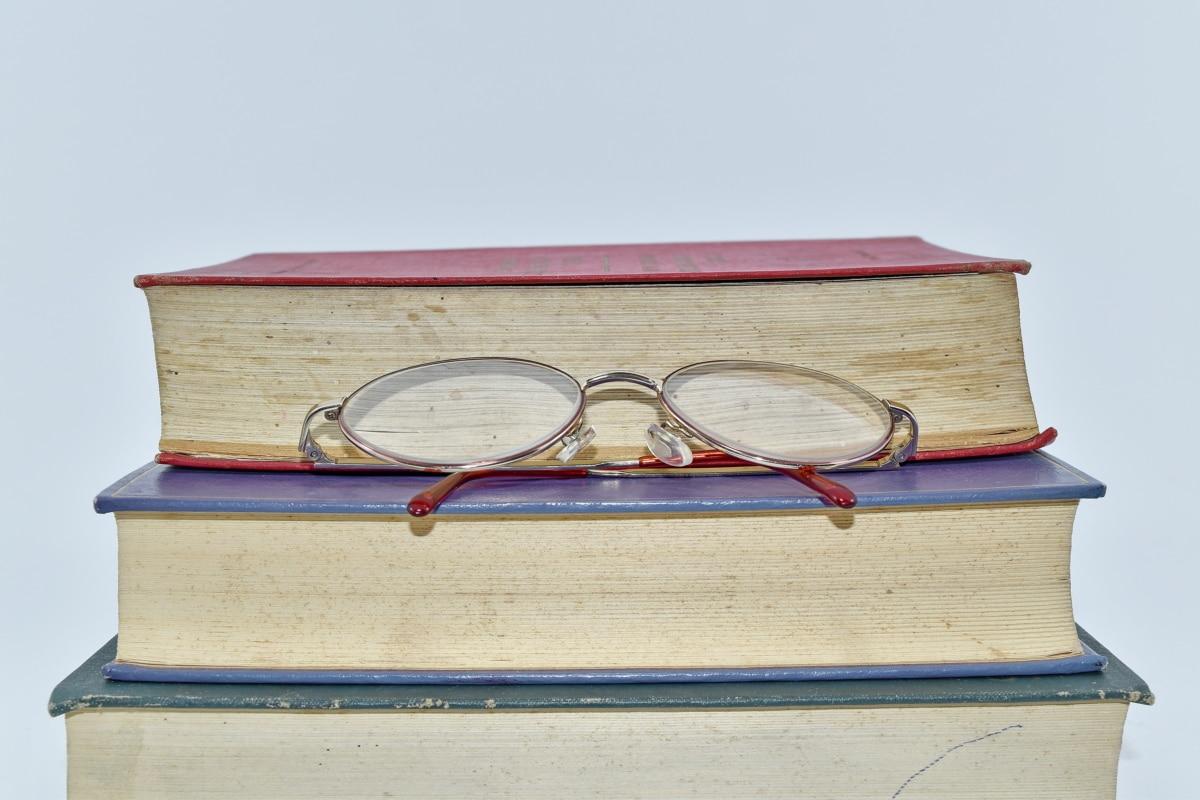 carti, ochelari de vedere, Biblioteca, înţelepciunea, literatura de specialitate, vechi, cunoştinţe, Antique, Cartea, educaţie