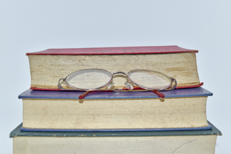 books, eyeglasses, library, wisdom, literature, old, knowledge, antique, book, education
