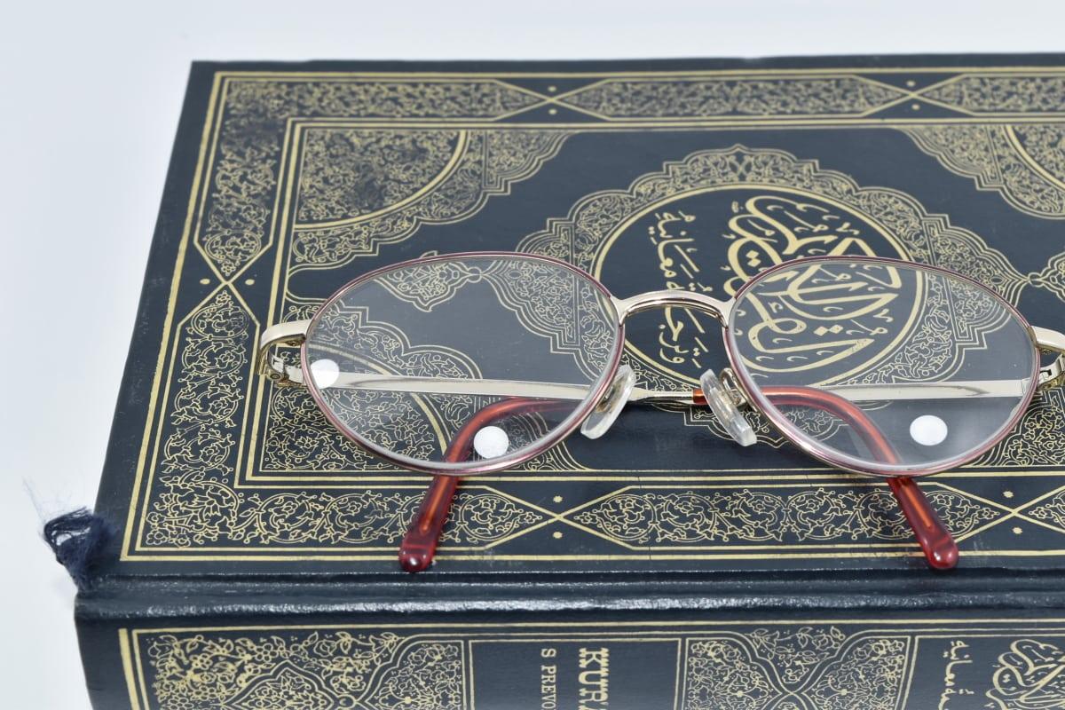 libro, lentes, Acebo, islam, literatura, de la lectura, religión, Turco, antiguo, retro