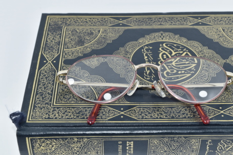 book, eyeglasses, holly, Islam, literature, reading, religion, turkish, old, retro