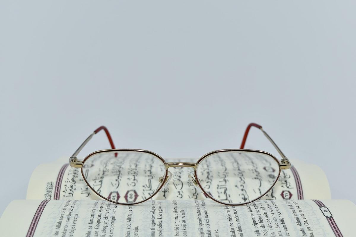 arab, Szemüvegek, nyelv, tanulás, irodalom, szimbólum, szöveg, papír, régi, természet