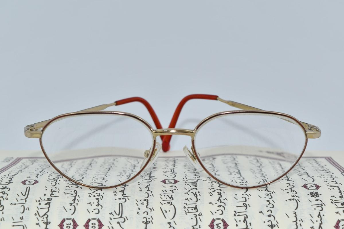 Árabe, lentes, islam, texto, superficie superior, lente, Gafas, Optometría, retro, papel