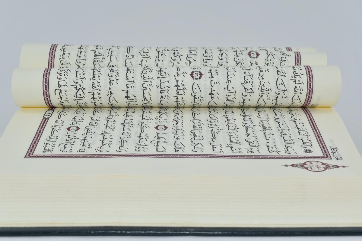 Árabe, livro, língua, estudo, texto, papel, educação, documento, página de vídeo, conhecimento