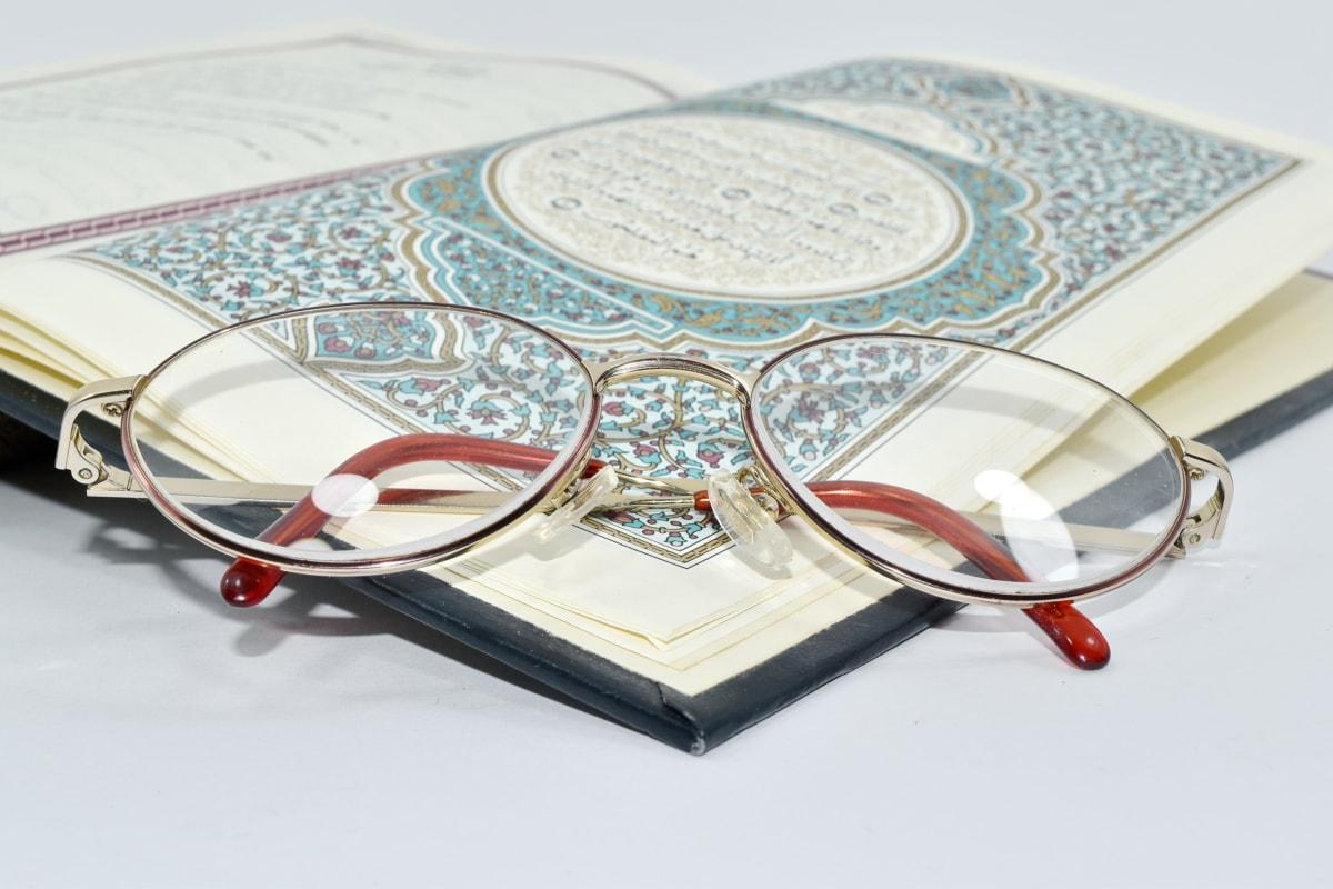 arabesque, livre, conception, lunettes de vue, houx, Islam, lecture, papier, éducation, document