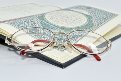 arabesque, book, design, eyeglasses, holly, Islam, reading, paper, education, document