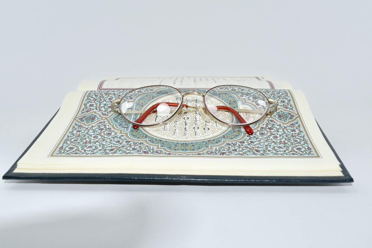 Arabă, ochelari de vedere, literatura de specialitate, hârtie, educaţie, Cartea, textul, cunoştinţe, arta, natura statica