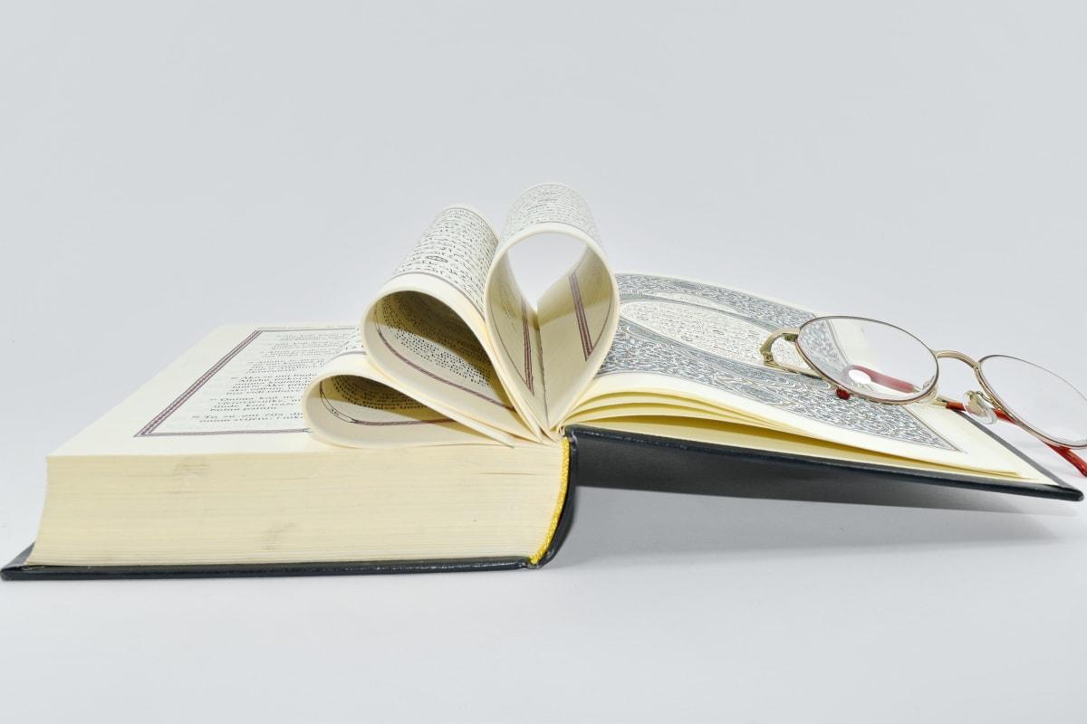 bok, design, briller, læring, siden, lesing, papir, litteratur, fortsatt liv, kunnskap