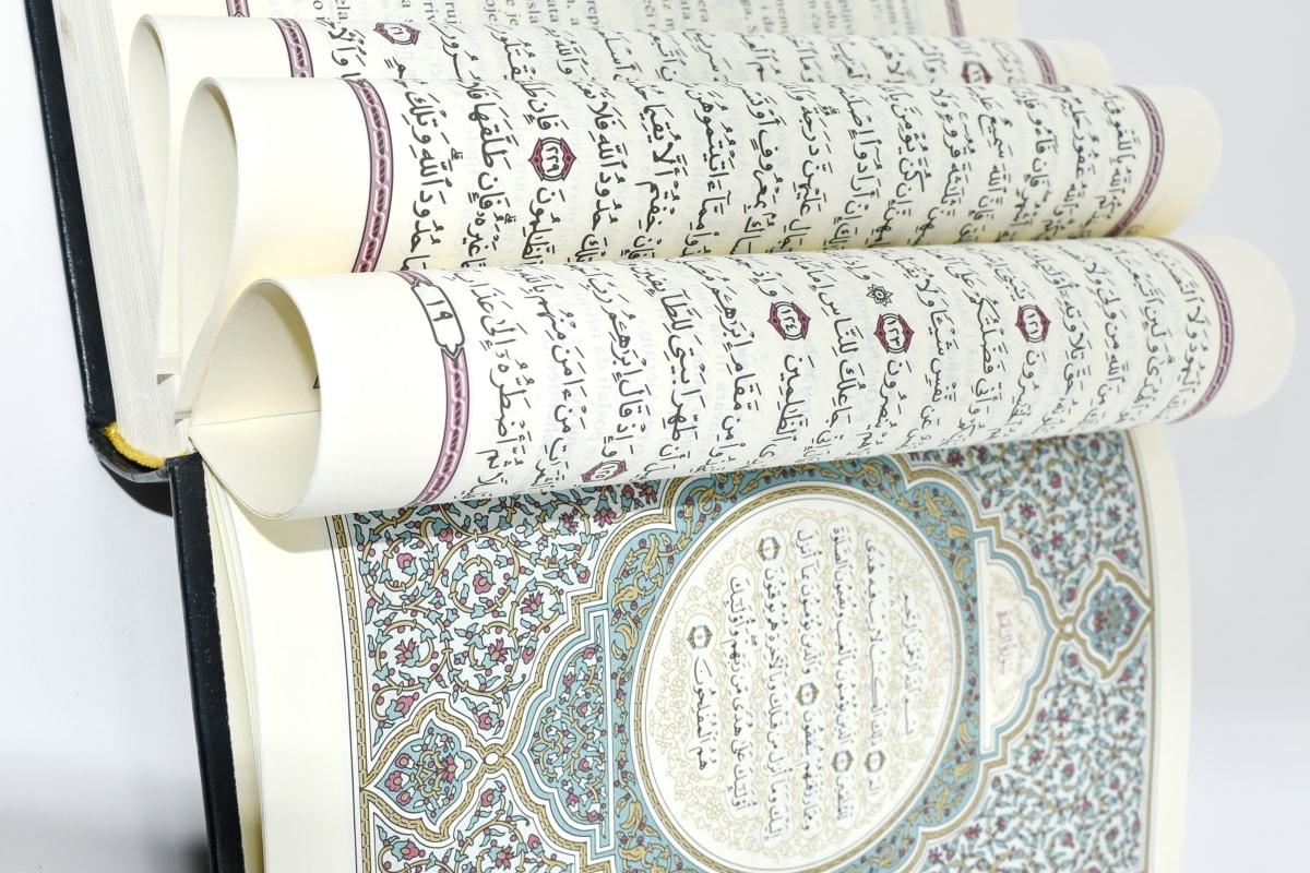 arabesque, arabic, book, Islam, law, print, religious, paper, roll, books