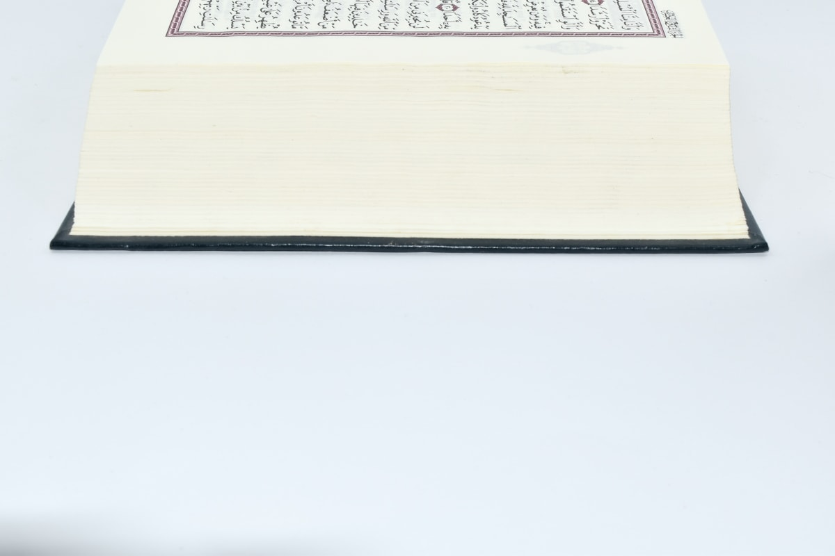 arabic, book, page, side view, paper, document, vintage, education, old, color