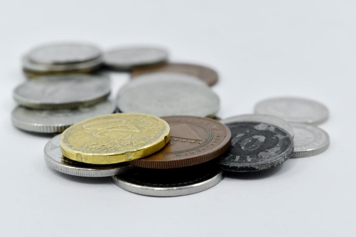 cent, coins, economic growth, euro, metal, twenty, cash, money, coin, business