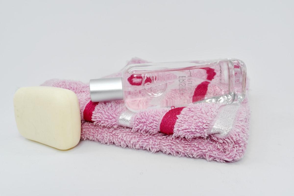 Hajusteiden, vaaleanpunainen, saippua, pyyhe, hoito, hoito, Kylpyamme, hygienia, terveys, asetelma