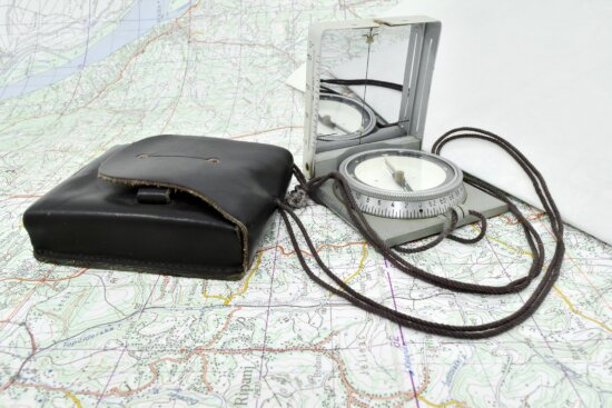 compass, location, military, navigation, tactic, equipment, device, technology, retro, old