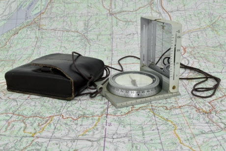 military, navigation, compass, map, paper, discovery, old, equipment, antique, retro