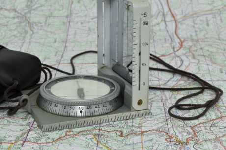 magnet, navigation, compass, precision, instrument, measure, tool, equipment, retro, discovery