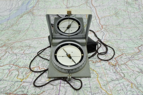 compass, geography, location, magnet, mirror, need, instrument, technology, map, navigation