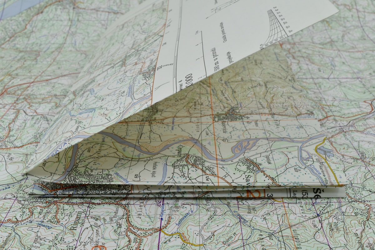 map, navigation, orientation, drawing, geography, paper, atlas, illustration, location, graph