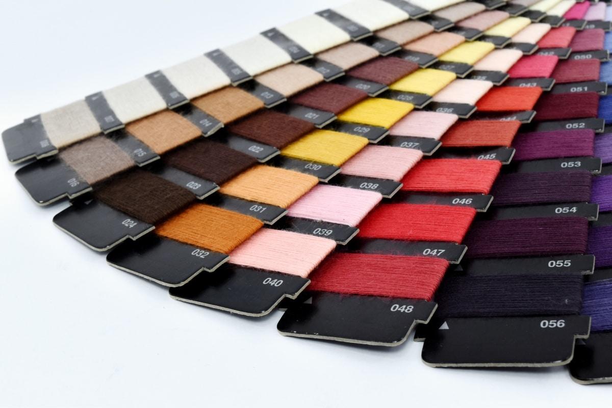 palett, Sy, skreddersy, textil, tråd, mange, vannrett, farge, fargerike, farger