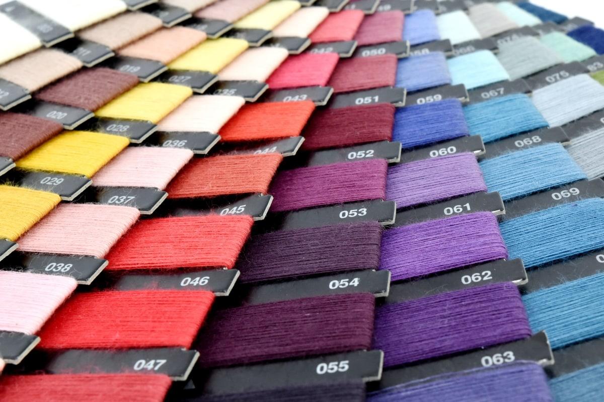 colorido, paleta, alfaiataria, horizontal, mercadoria, padrão, cor, cobrindo, projeto, textura