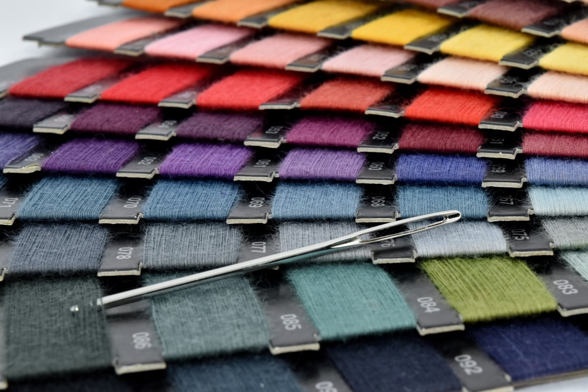 colors, hand tool, sewing, sewing needle, tailoring, thread, traditional, fashion, business, many