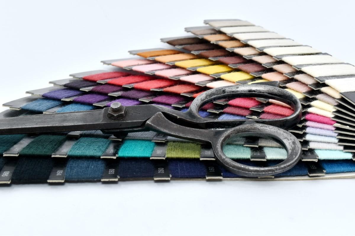 alat tangan, menjahit, gunting, Bisnis, mode, warna, peralatan, warna-warni, warna, kerajinan