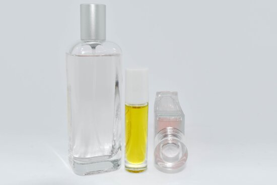 lotion, perfume, toiletry, glass, bottle, container, treatment, health, plastic, still life