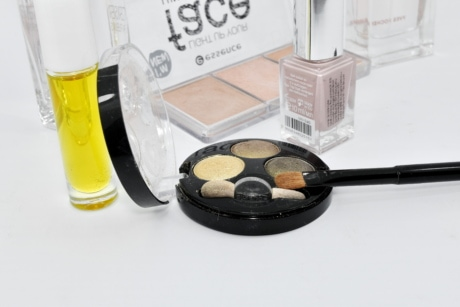 oil, perfume, still life, glass, brush, color, cure, powder, makeup, toiletry