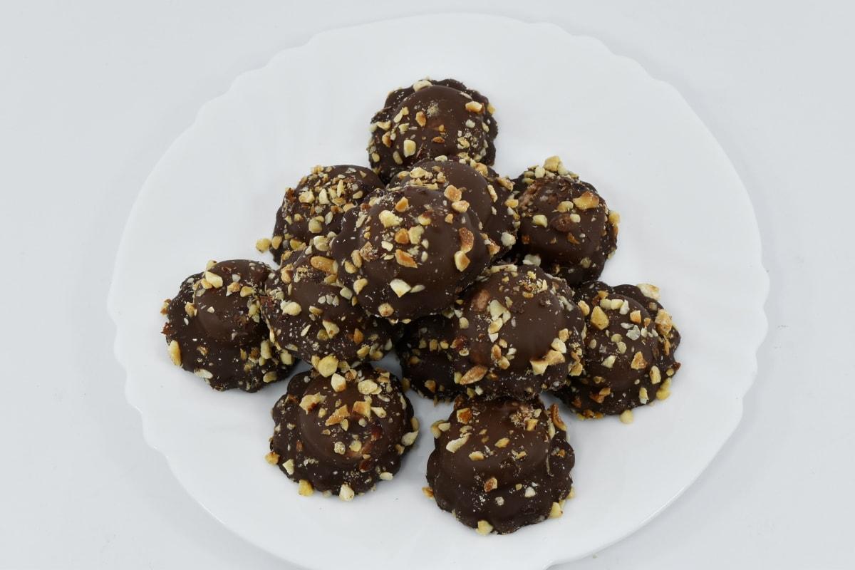 biscoitos, delicioso, sobremesa, feito à mão, placa, doce, chocolate, comida, açúcar, pequeno-almoço
