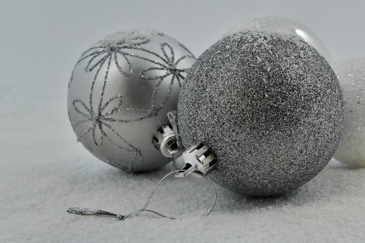decoration, holiday, ornament, snowflakes, sphere, snow, winter, christmas, shining, frost