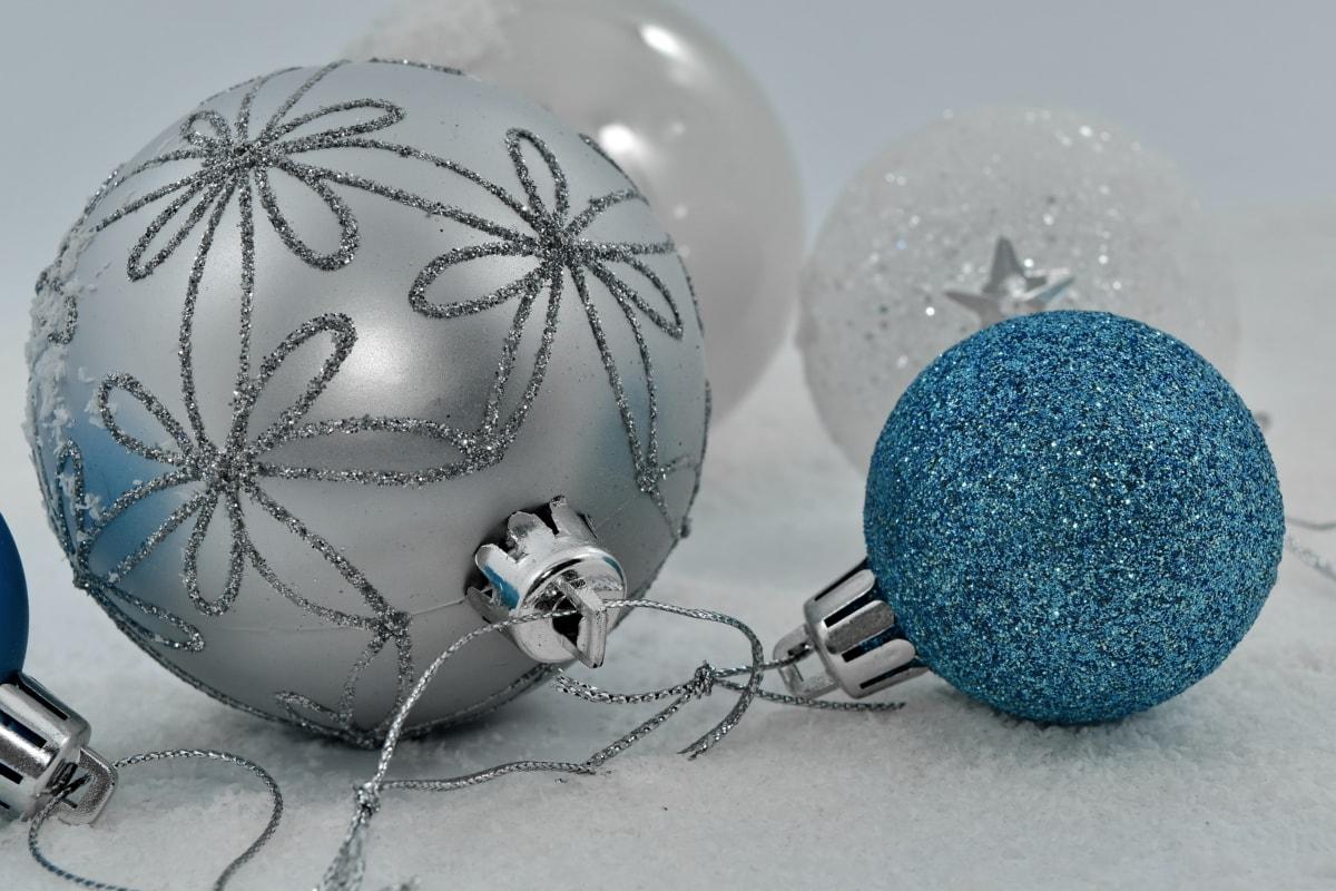 christmas, decorative, elegant, grey, holiday, ornament, round, shining, snowflakes, winter