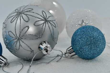 christmas, decorative, elegant, grey, holiday, ornament, round, shining, snowflakes, winter