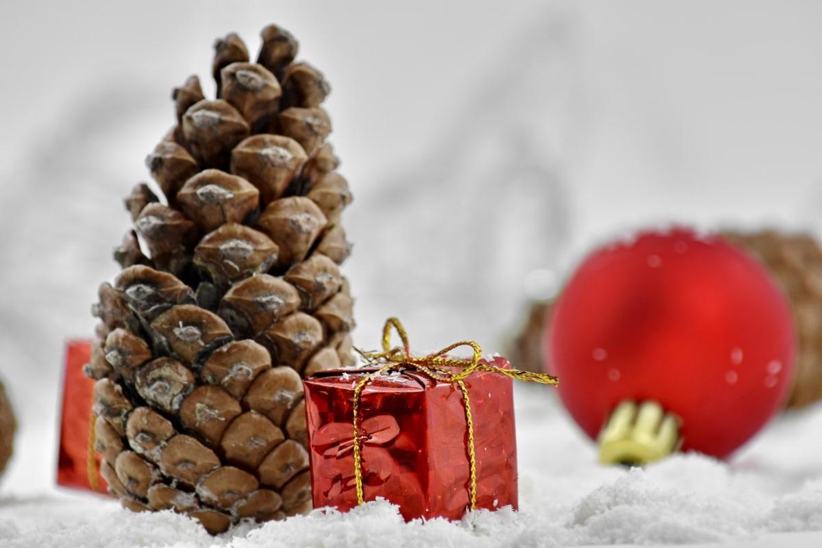 kristne, Christmas, dekorasjon, gave, ortodokse, pakke, rød, religion, Vinter, tradisjonelle