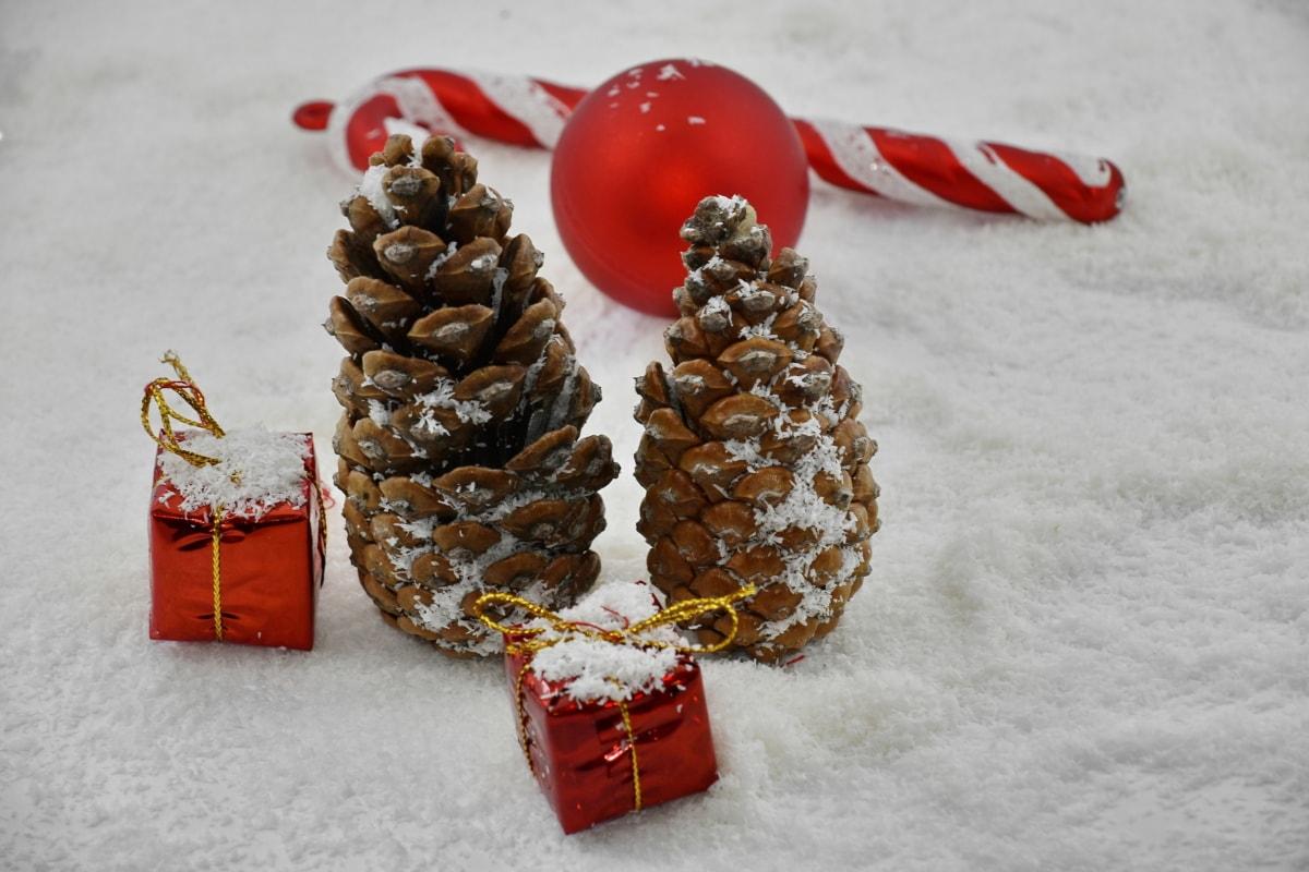décoration, Détails, cadeaux, neige, flocons de neige, Noël, Hiver, célébration, flocon de neige, thread