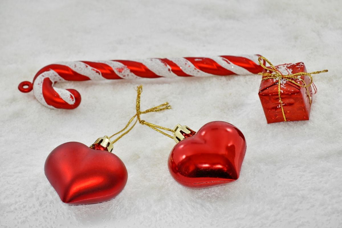 christmas, decoration, gift, hearts, love, romantic, snowflakes, romance, heart, winter