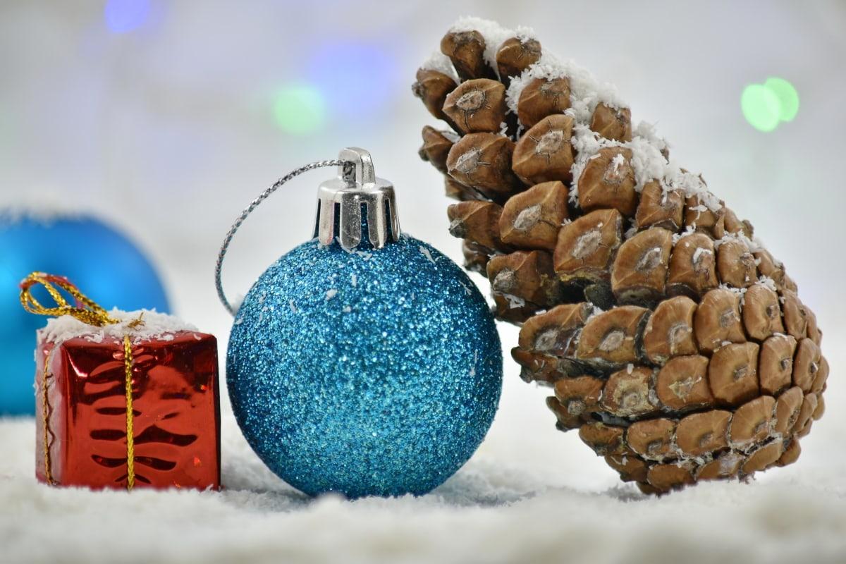backlight, conifer, gifts, shining, holiday, celebration, ornament, decoration, perfume, christmas