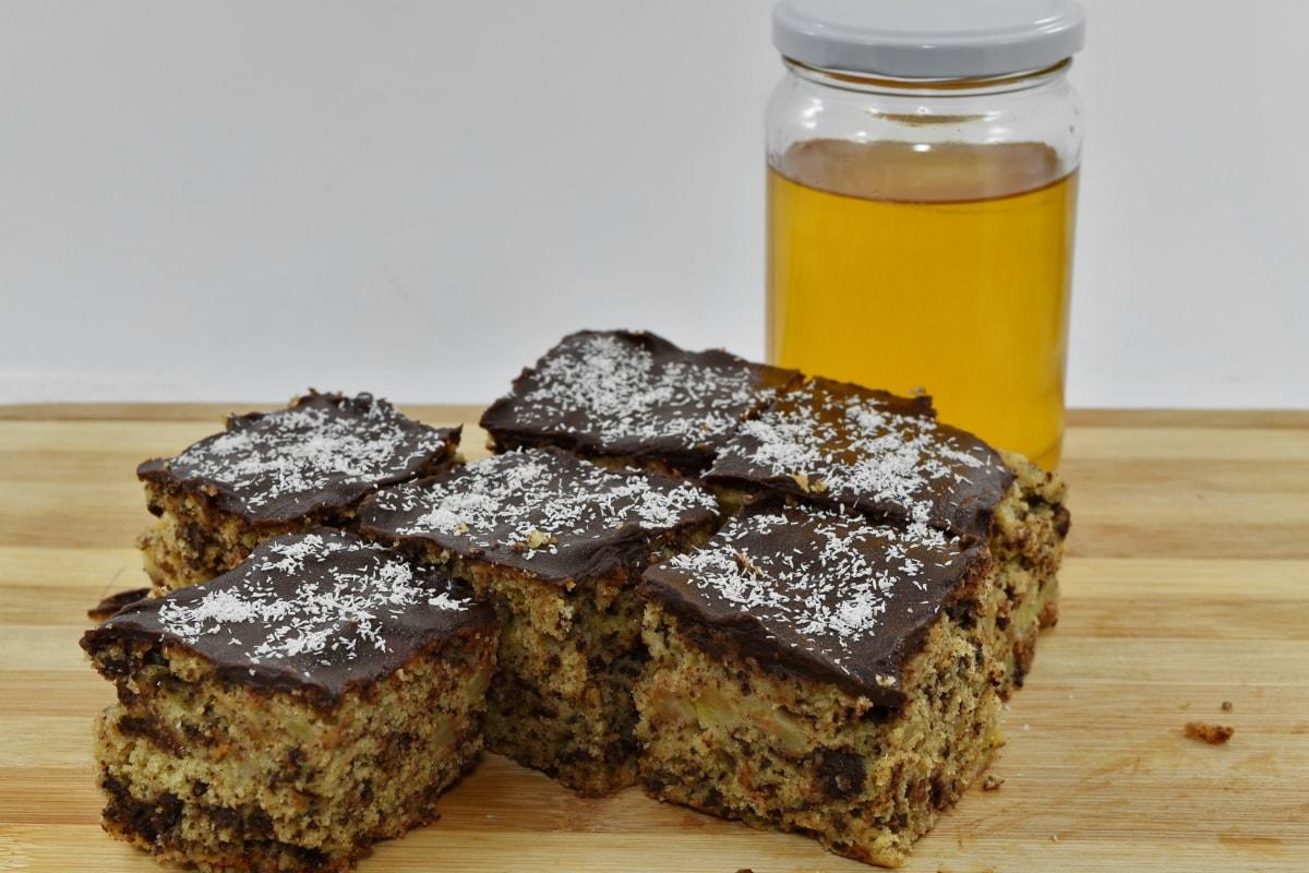 pekarski proizvod, čokolada, čokoladna torta, kakao, kokos, ukusno, ručni rad, domaće, med, staklenku