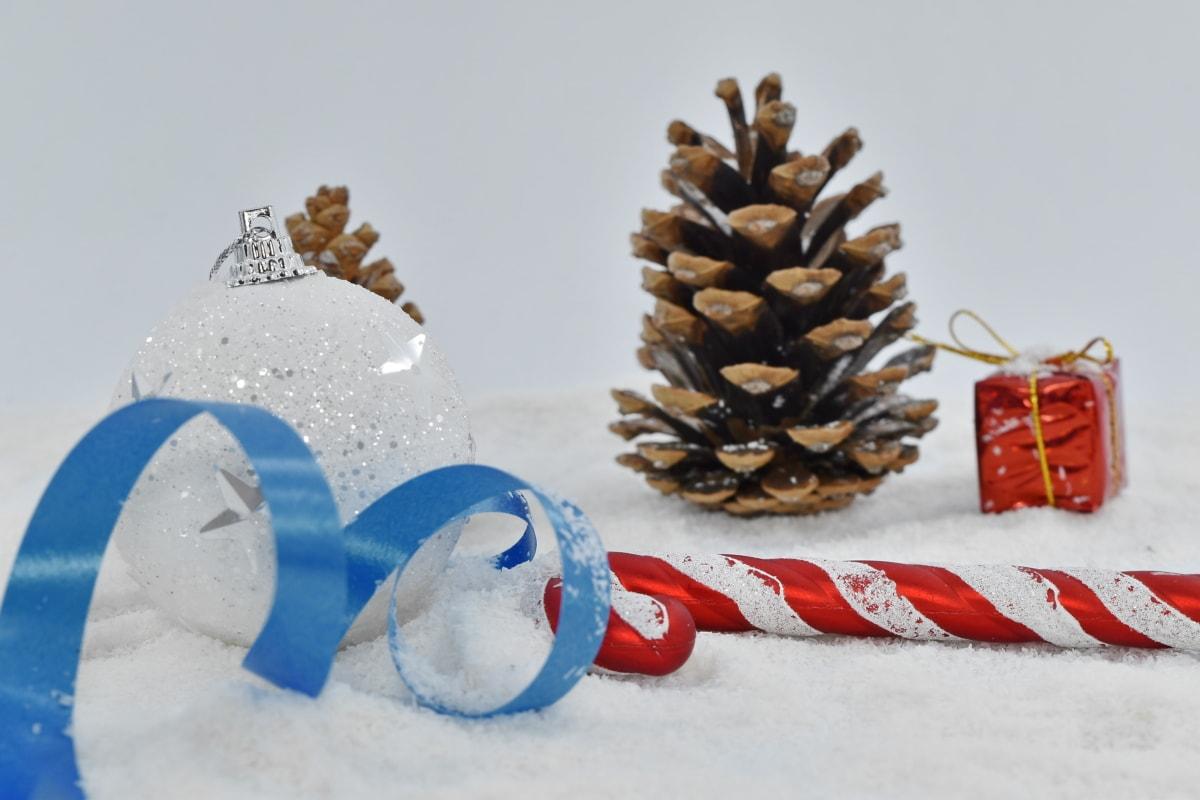 cône, Hiver, neige, arbre, Noël, célébration, décoration, Design d'intérieur, Shining, pin