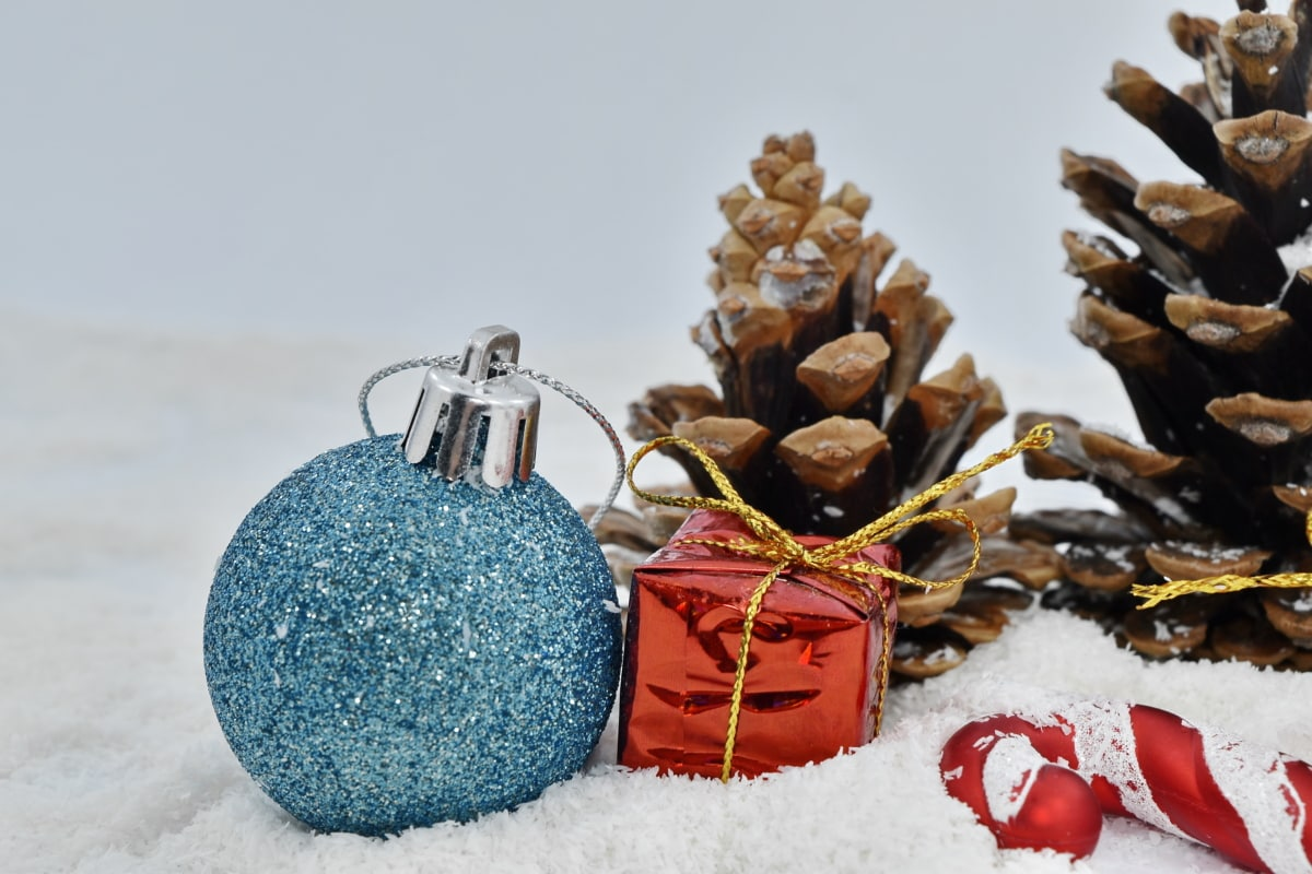 conifers, decoration, gifts, ornament, snowflakes, christmas, winter, snow, shining, interior design